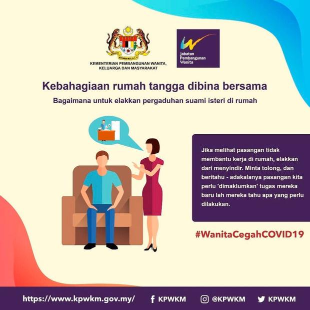 Фото №2 - Власти Малайзии дали сексистские советы женщинам, как вести себя с мужьями на карантине
