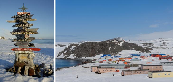 Российская антарктическая исследовательская станция Беллинсгаузен на острове Кинг-Джордж.