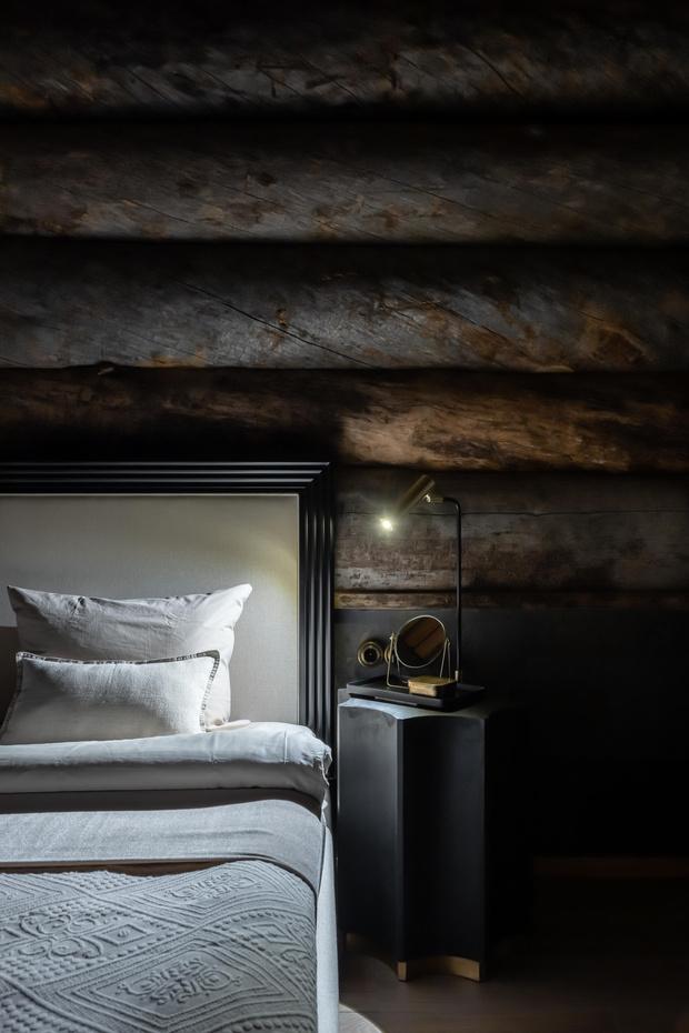 Фото №13 - Деревянная баня с высокотехнологичным дизайном в Подмосковье