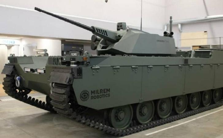Фото №1 - Появилось первое фото европейского робота-танка