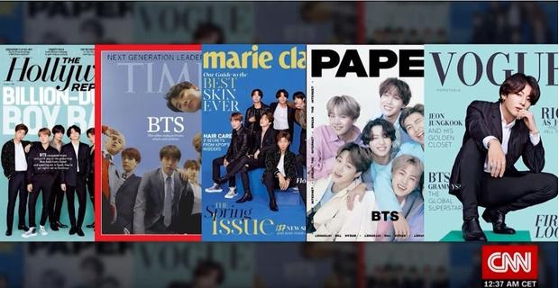 Фото №1 - Упс: канал CNN случайно использовал фейковые фото BTS для новостного сюжета