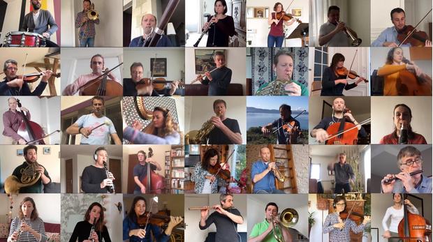Фото №1 - Французский национальный оркестр, сидящий на карантине, исполнил «Болеро» через видеочат