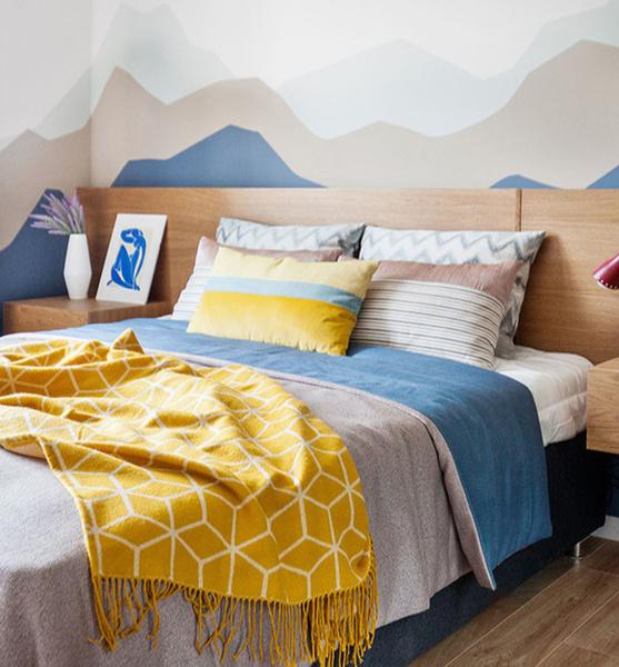 Фото №12 - Цветные сны: Color Blocking в спальне