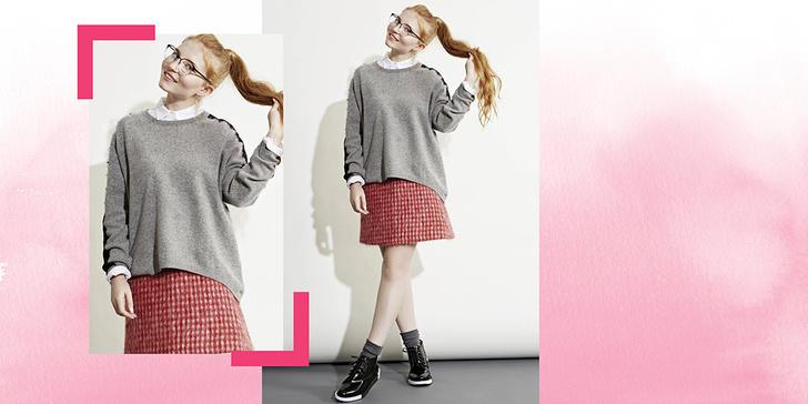 Фото №5 - 5 способов носить клетчатую юбку