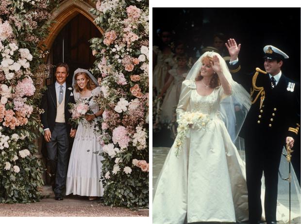 Фото №1 - От матери к дочери: что общего между свадебными образами Беатрис и Сары Фергюсон
