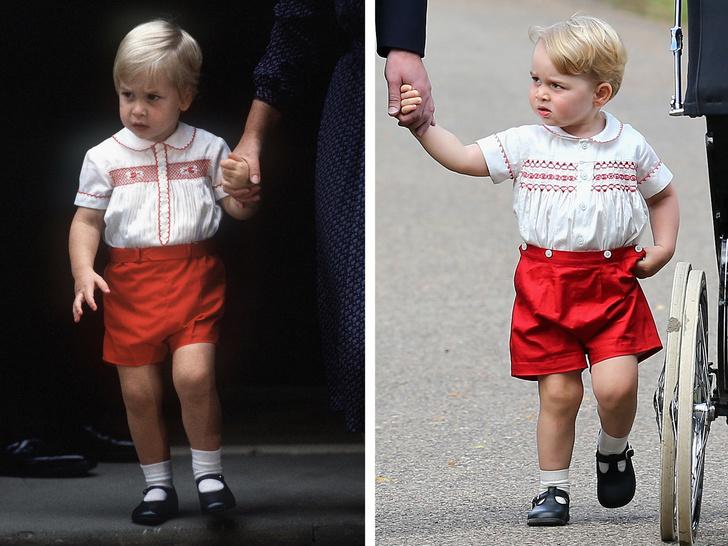 Фото №1 - Самые милые фото, на которых принцев Уильяма и Джорджа не отличить друг от друга