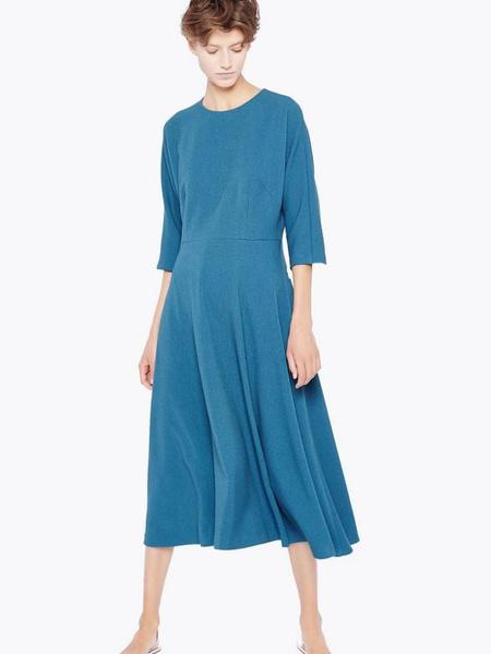Платье cyrille gassiline base глубокого атлантического цвета, 4000 рублей
