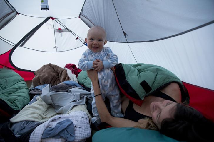 Фото №1 - А вы бы рискнули? Отдых в палатке с грудничком: личный опыт