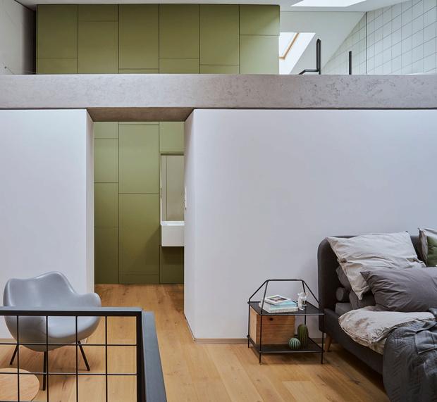 Фото №11 - Эклектичная квартира со спальней в мезонине в Познани
