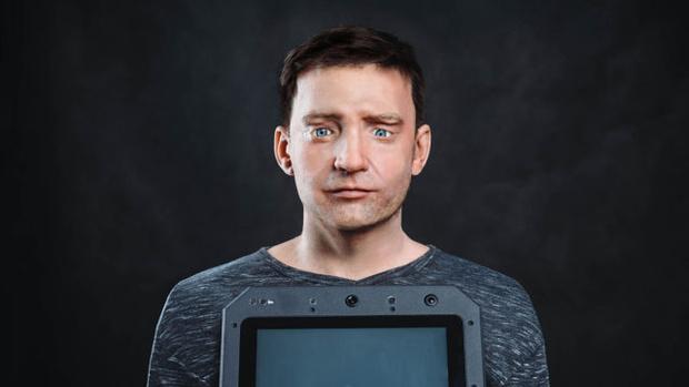 Внешность скопирована с лица директора компании Promobot Алексея Южакова