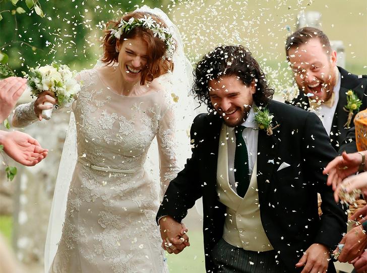 Фото №16 - Свадьба звезд «Игры престолов» Кита Харингтона и Роуз Лесли