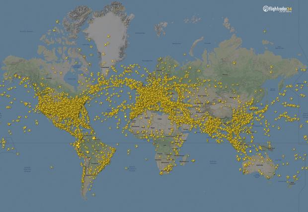 Фото №2 - Как изменился авиатрафик в разных регионах мира во время пандемии