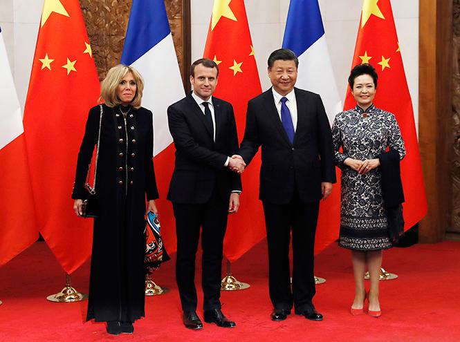 Фото №7 - Лучше, чем Мелания: 5 идеальных нарядов Брижит Макрон в Китае