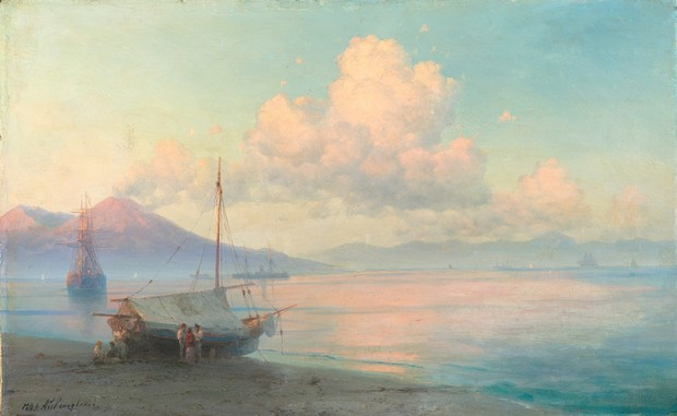 Неаполитанский залив утром, 1893 год.
