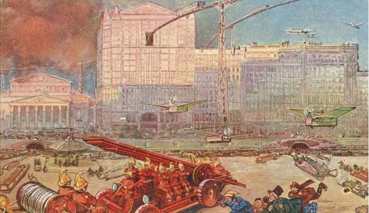 Фото №9 - Как представляли Москву будущего в 1914 году