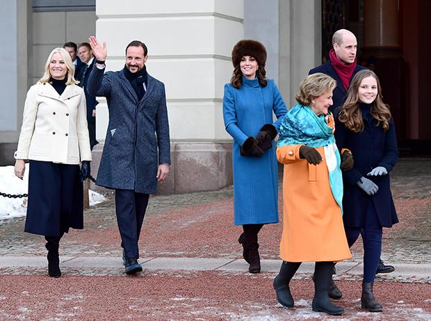 Фото №14 - Кейт Миддлтон и принц Уильям в Норвегии: день первый