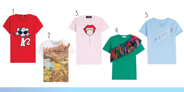 Фото №1 - Toп-20: Яркие футболки для лета