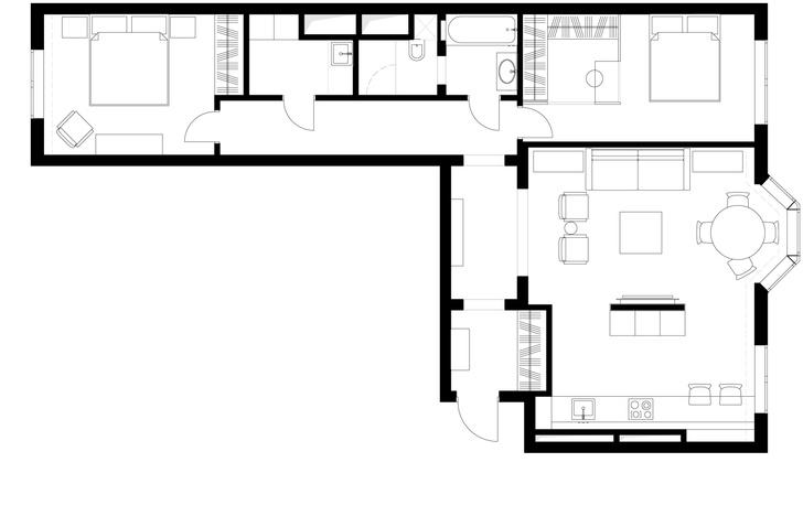 Фото №16 - Новая классика в серых тонах: квартира 100 м² в Москве
