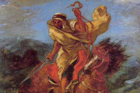 Арабский наездник Делакруа