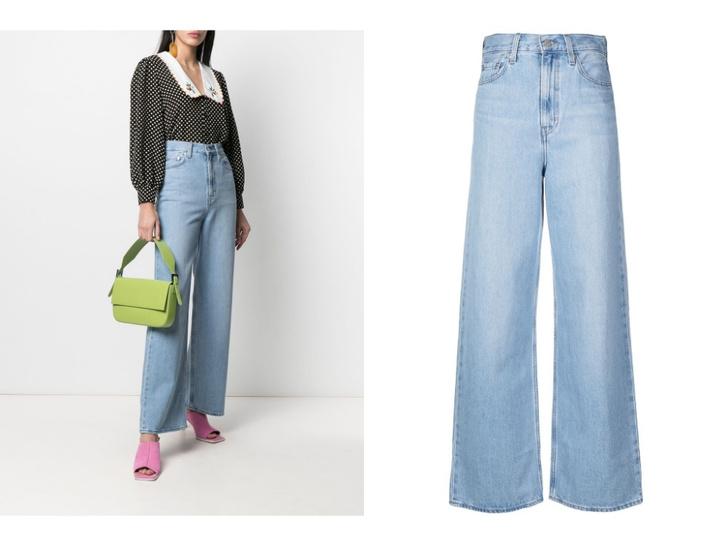Фото №3 - Голубые джинсы— самая главная покупка лета. Рассказываем, на какие модели обратить внимание