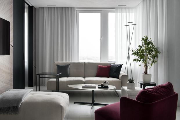 Фото №2 - Московская квартира 56 м² в серых тонах