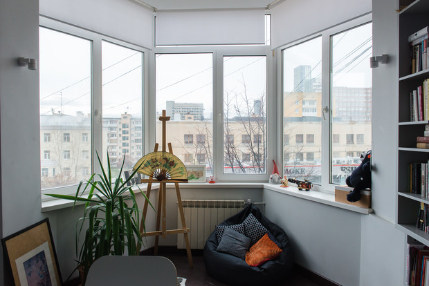 Окна квартиры выходят на Луначарского
