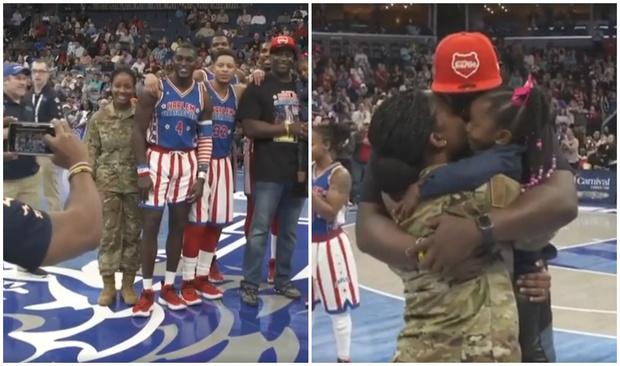 Фото №1 - Трогательное видео: неожиданно вернувшаяся с задания мама-солдат сделала сюрприз дочери с помощью фото