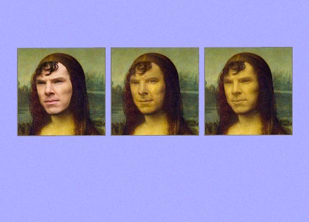 Фото №1 - Новые технологии: как пририсовать лицо Бенедикта Камбербэтча Моне Лизе и не только