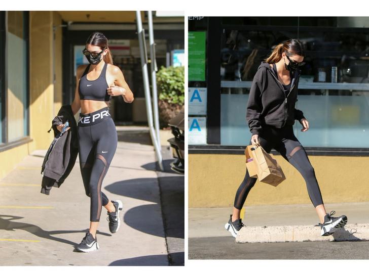 Фото №1 - В чем тренируется Кендалл Дженнер? Модель выбирает форму Nike с прозрачными вставками