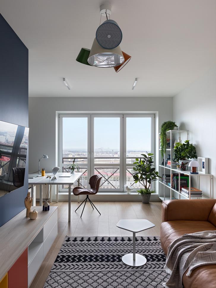 Фото №1 - Яркая однокомнатная квартира для работы на удаленке