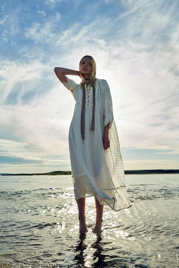 Фото №5 - Российская супермодель Саша Пивоварова в чарующей белоснежной рекламной кампании Zara