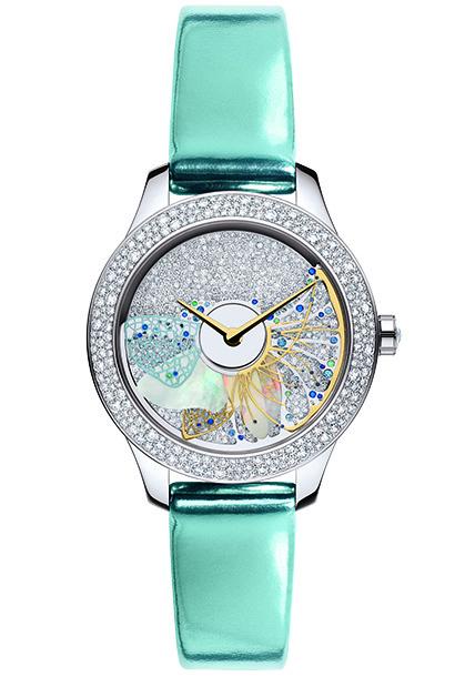 Часы Dior VIII Grand Bal Pie`ce Unique, белое и желтое золото, бриллианты, сапфиры, цавориты, опал, перламутр, Dior.