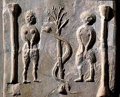 Фото №3 - Галерея: как изображали Адама и Еву последние  2000 лет