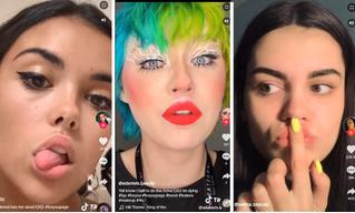 Девушки делают себе чувственные губы с помощью клея: новый популярный челлендж развлекает Интернет (видео)