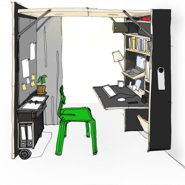 Фото №6 - Der Vorstand: складной домашний офис от Nils Holger Moormann