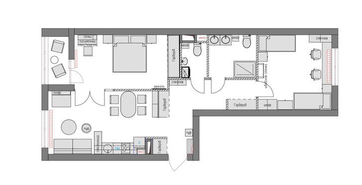 Фото №13 - Квартира для семьи из четырех человек в Москве