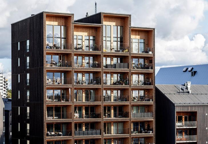 Фото №1 - В Швеции построили полностью деревянную восьмиэтажку (фото)