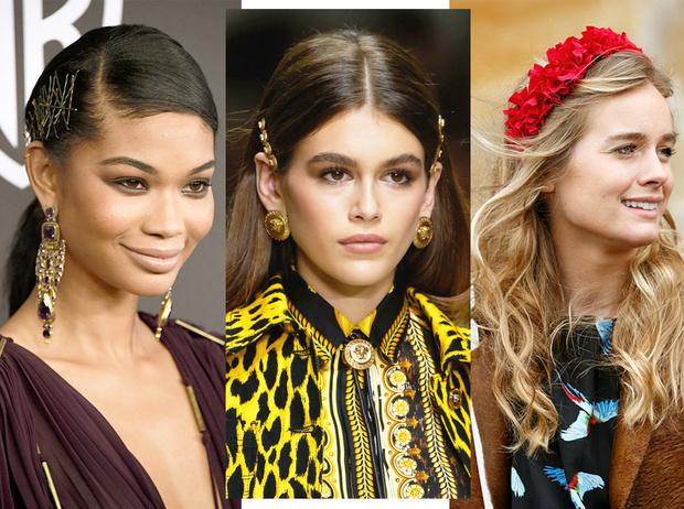 Фото №1 - Заколки, ободки и резинки: самые модные украшения для волос нового сезона