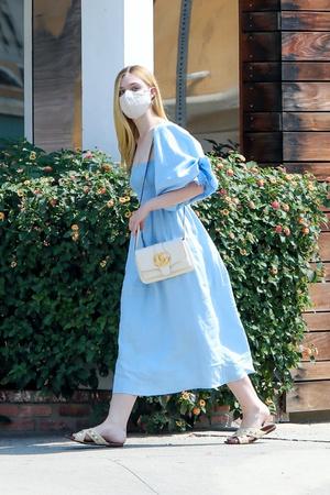 Фото №1 - Платье Золушки + сумочка Gucci: сказочно красивый образ Эль Фаннинг