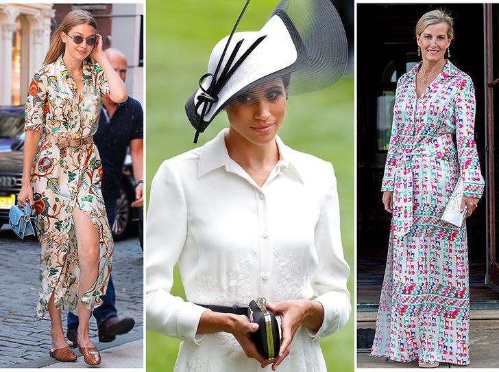 Фото №1 - 20 модных платьев-рубашек как у Меган Маркл и Джиджи Хадид
