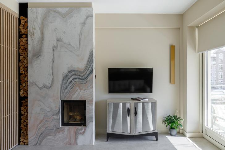 Фото №1 - Апартаменты 56 м² с камином и террасой