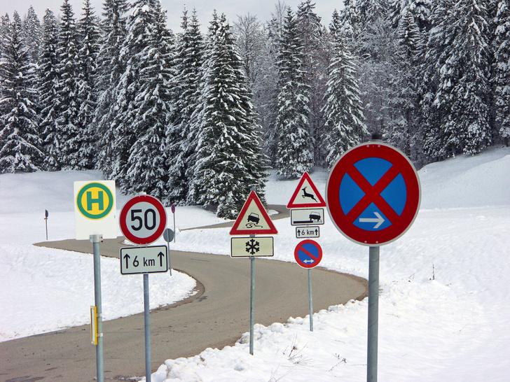 Фото №3 - Таинственные символы: какие дорожные знаки используют в разных странах мира и почему
