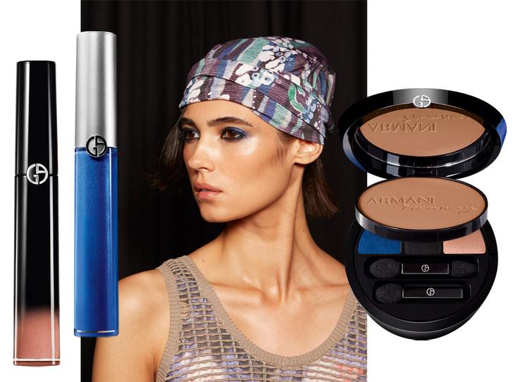 Фото №1 - По синему морю: подиумная коллекция макияжа Giorgio Armani
