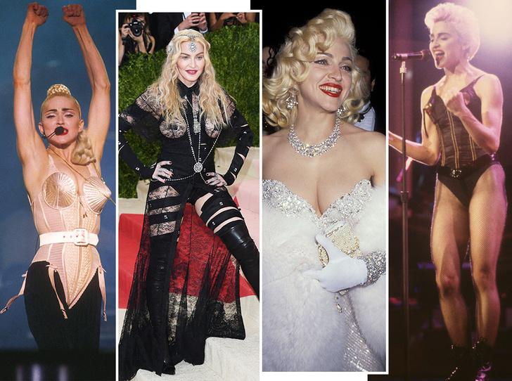 Фото №1 - Королева провокаций: 10 скандальных нарядов Мадонны, которые изменили моду