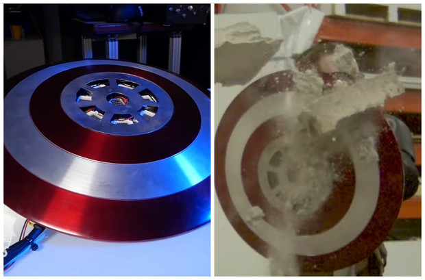Фото №1 - Парень изготовил себе щит Капитана Америки и испытал, на что тот способен (видео)