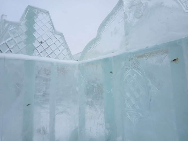 Фото №2 - В Тюмени построили парк ледяных скульптур с вмороженной рыбой
