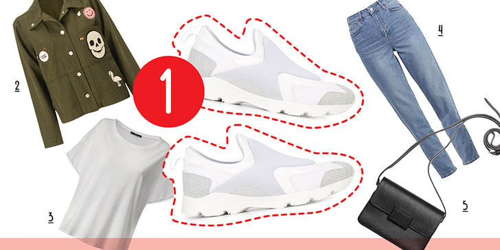 Фото №1 - 5 способов носить белые кроссовки