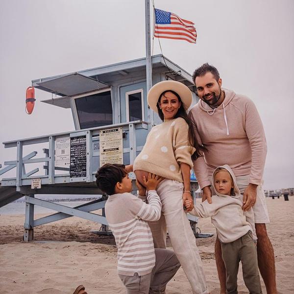 Саша Зверева с семьей