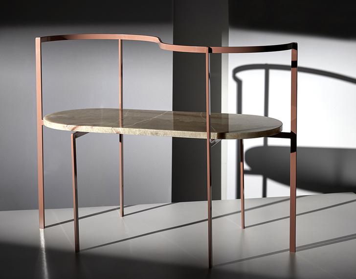 Фото №1 - Коллекция мебели Ego из мрамора и металла