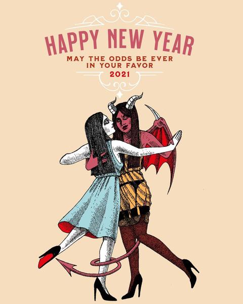 Фото №7 - Покруче мемов: арты Инста-художников к Новому году 2021